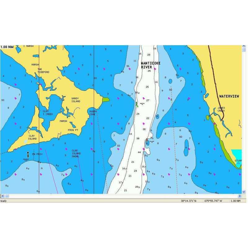 Карта NAVIONICS ДУНАЙ (только устье 100 км) + SonarChartsLive
