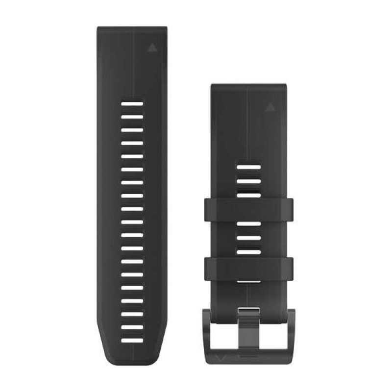 Ремешок для Garmin Fenix 5X Plus 26mm QuickFit Black Silicone Band