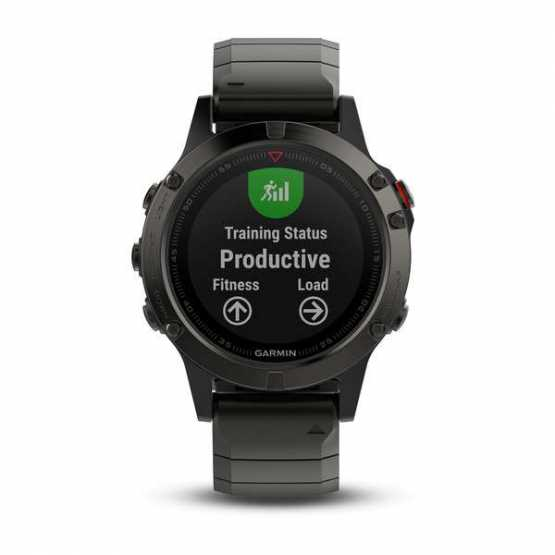 Часы для мультиспорта Garmin Fenix 5 Sapphire Slate grey with metal band (010-01688-21)