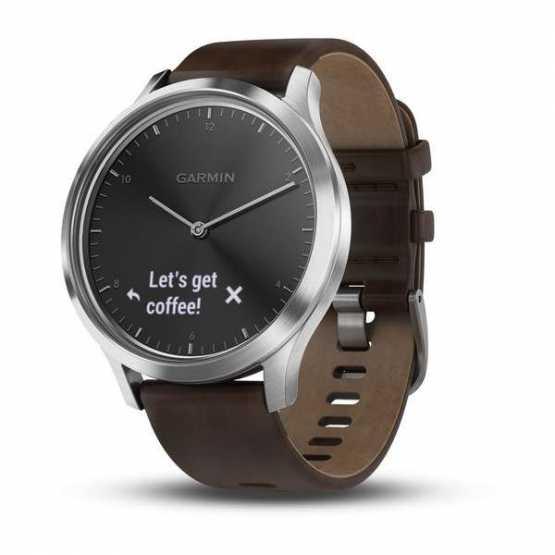 Фитнес часы Garmin Vivomove HR, E EU, Premium, Black-Silver, L (010-01850-24)