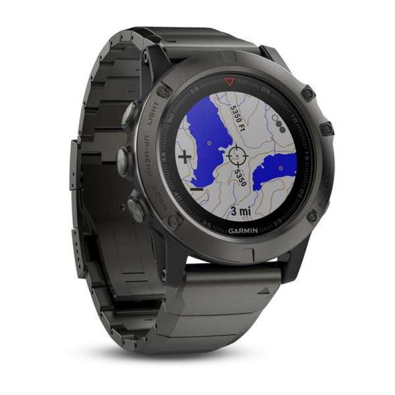 Годинник для мультиспорту Garmin Fenix 5X Sapphire - Slate grey with metal band (010-01733-03)