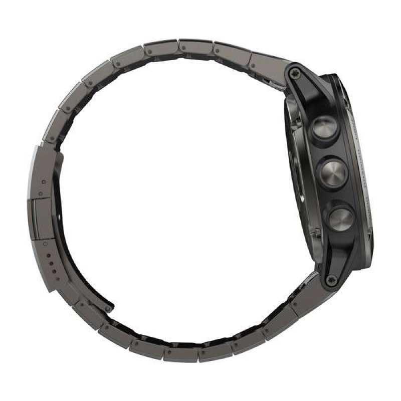 Часы для мультиспорта Garmin Fenix 5X Sapphire - Slate grey with metal band (010-01733-03)