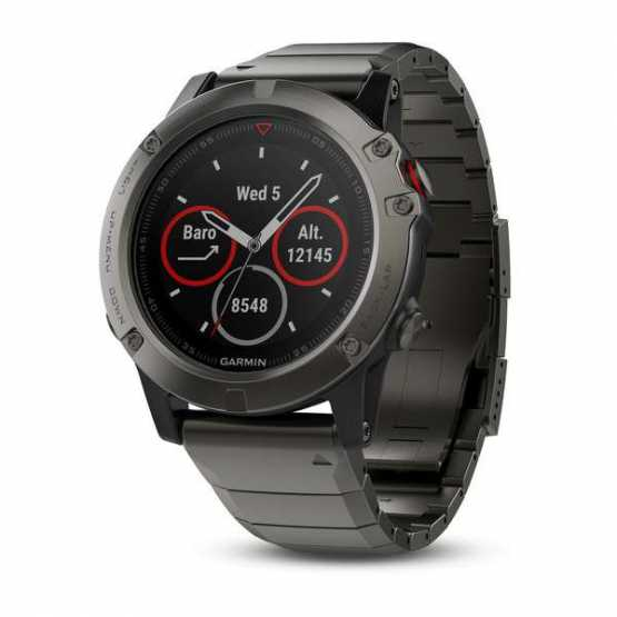 Часы для мультиспорта Garmin Fenix 5X Sapphire - Slate grey with metal band (010-01733-03)