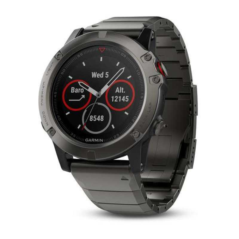 Garmin Fenix 5X Sapphire - Slate grey with metal band