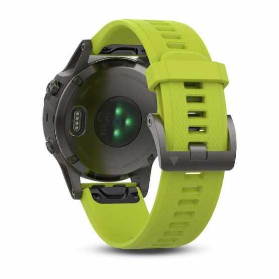 Часы для мультиспорта Garmin Fenix 5 - Slate grey with amp yellow band (010-01688-02)