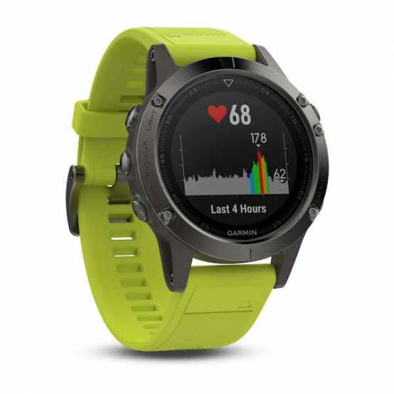 Часы для мультиспорта Garmin Fenix 5 - Slate grey with amp yellow band (010-01688-02)