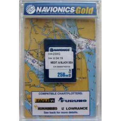 Карта NAVIONICS ДНЕПР + Средиземное и Черное море для Lowrance, Simrad, Eagle, Humminbird, Raymarine
