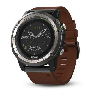 Авиационные часы Garmin D2 Charlie Titanium Bezel with Leather and Silicone Bands (010-01733-31)