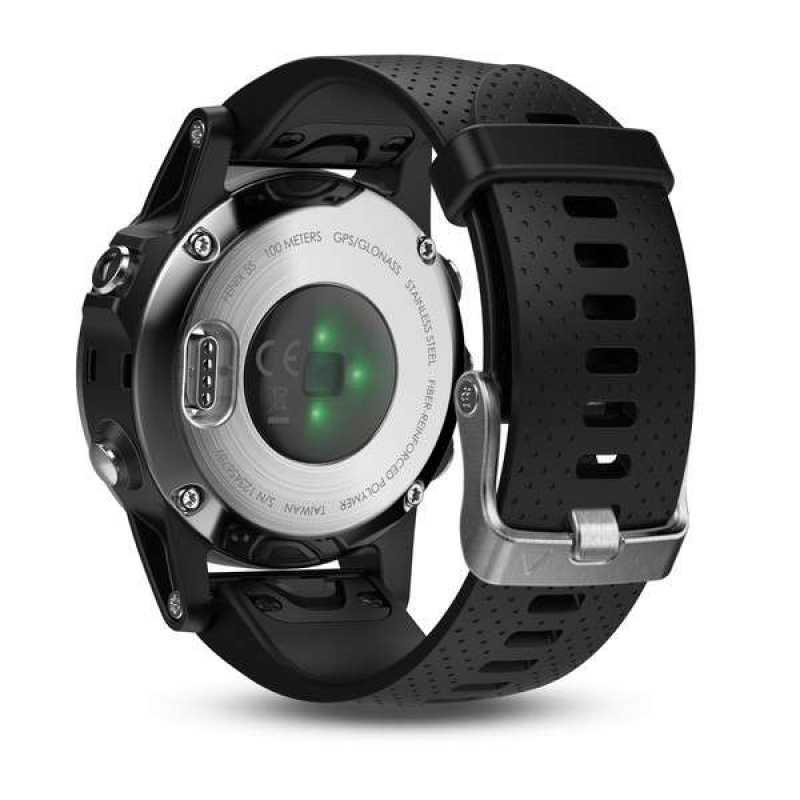 Годинник для мультиспорту Garmin Fenix 5S - Silver with black band (010-01685-02)