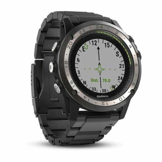 Авиационные часы Garmin D2 Charlie Titanium Bezel with Titanium and Silicone Bands (010-01733-33)