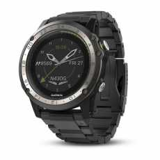 Garmin D2 Charlie Titanium Bezel with Titanium and Silicone Bands
