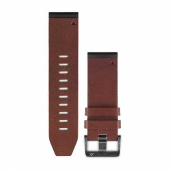 Ремешок для Fenix 5x 26mm QuickFit Brown Leather Band (010-12517-04)