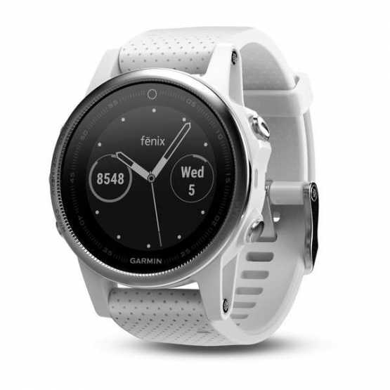 Часы для мультиспорта Garmin Fenix 5S Sapphire Rose gold tone with white band (010-01685-17)