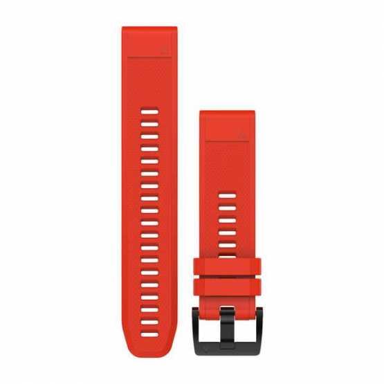 Ремешок для Fenix 5 22mm QuickFit Flame Red Silicone Band (010-12496-03)