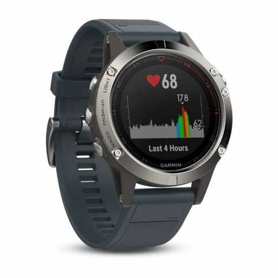 Часы для мультиспорта Garmin Fenix 5 - Silver with granite blue band (010-01688-01)