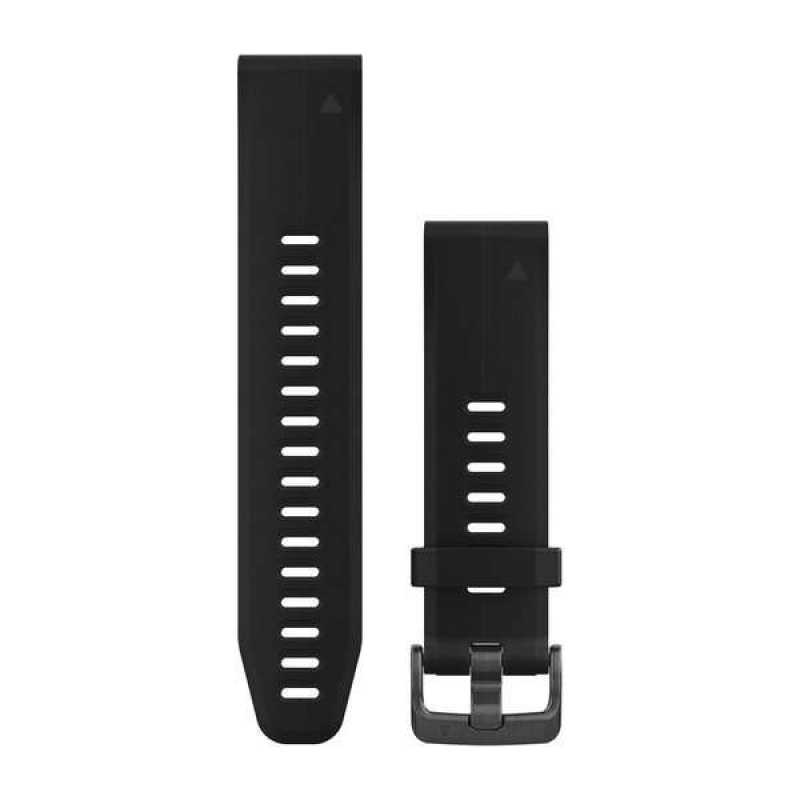 Ремешок для Garmin Fenix 5S Plus 20mm QuickFit Black Silicone Band