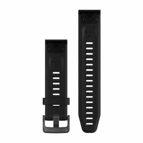 Ремешок для Garmin Fenix 5S Plus 20mm QuickFit Black Silicone Band (010-12739-00)