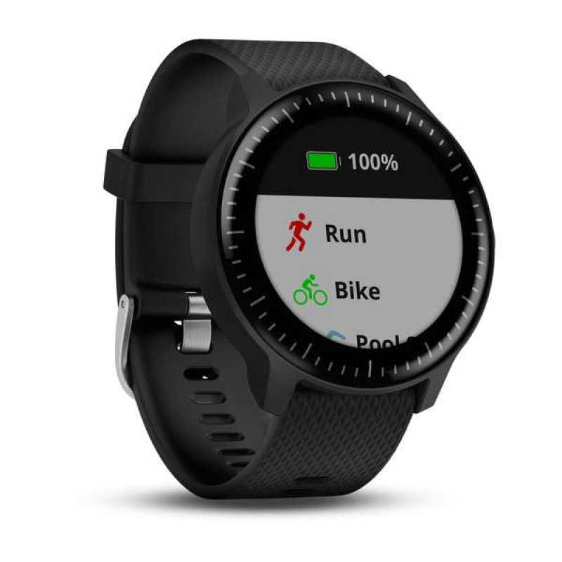 Годинник для бігу Garmin Vivoactive 3 Music Black with Stainless Hardware (010-01985-03)