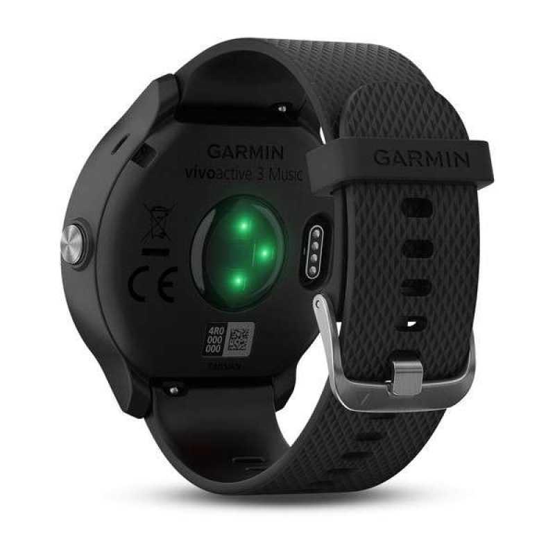 Часы для бега Garmin Vivoactive 3 Music Black with Stainless Hardware (010-01985-03)