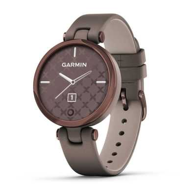 Garmin Lily Dark Bronze Bezel with Paloma Case and Italian Leather Band