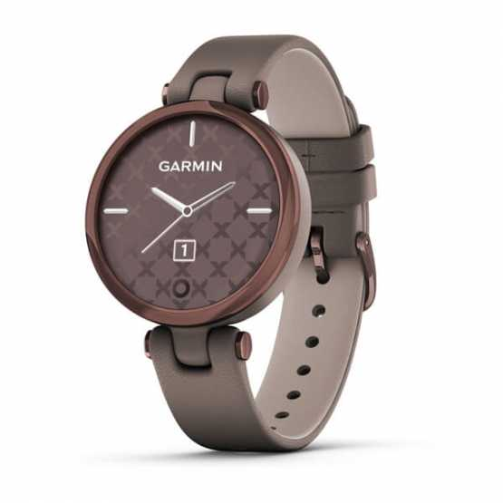 Спортивні годинник Garmin Lily Dark Bronze Bezel with Paloma Case and Italian Leather Band (010-02384-B0)
