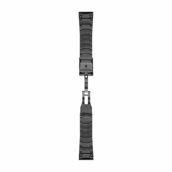 Ремешок для Garmin Fenix 5X Plus 26mm QuickFit Carbon Gray DLC Titanium (010-12741-01)