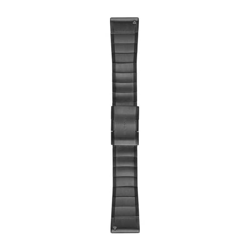 Ремешок для Garmin Fenix 5X Plus 26mm QuickFit Carbon Gray DLC Titanium