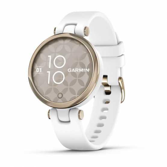 Спортивні годинник Garmin Lily Cream Gold Bezel with White Case and Silicone Band (010-02384-10)