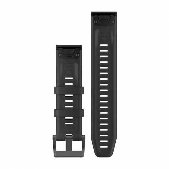 Ремешок для Garmin Fenix 5 Plus 22mm QuickFit Black Silicone Band (010-12740-00)