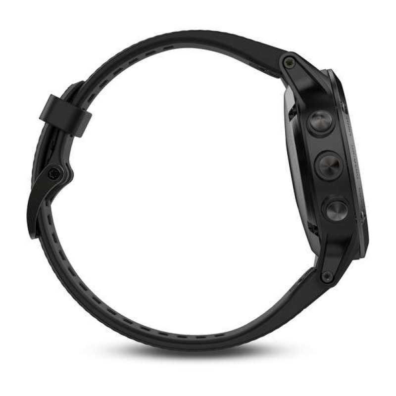 Годинник для мультиспорту Garmin Fenix 5 Sapphire - Black with black band (010-01688-11)
