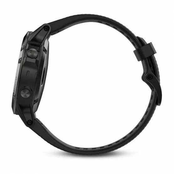 Часы для мультиспорта Garmin Fenix 5 Sapphire - Black with black band (010-01688-11)