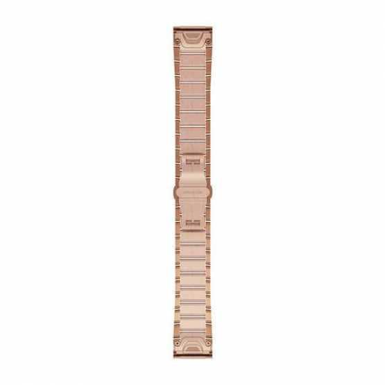 Ремешок для Garmin Fenix 5S Plus 20mm QuickFit Rose Gold-tone Stainless Bands (010-12739-02)